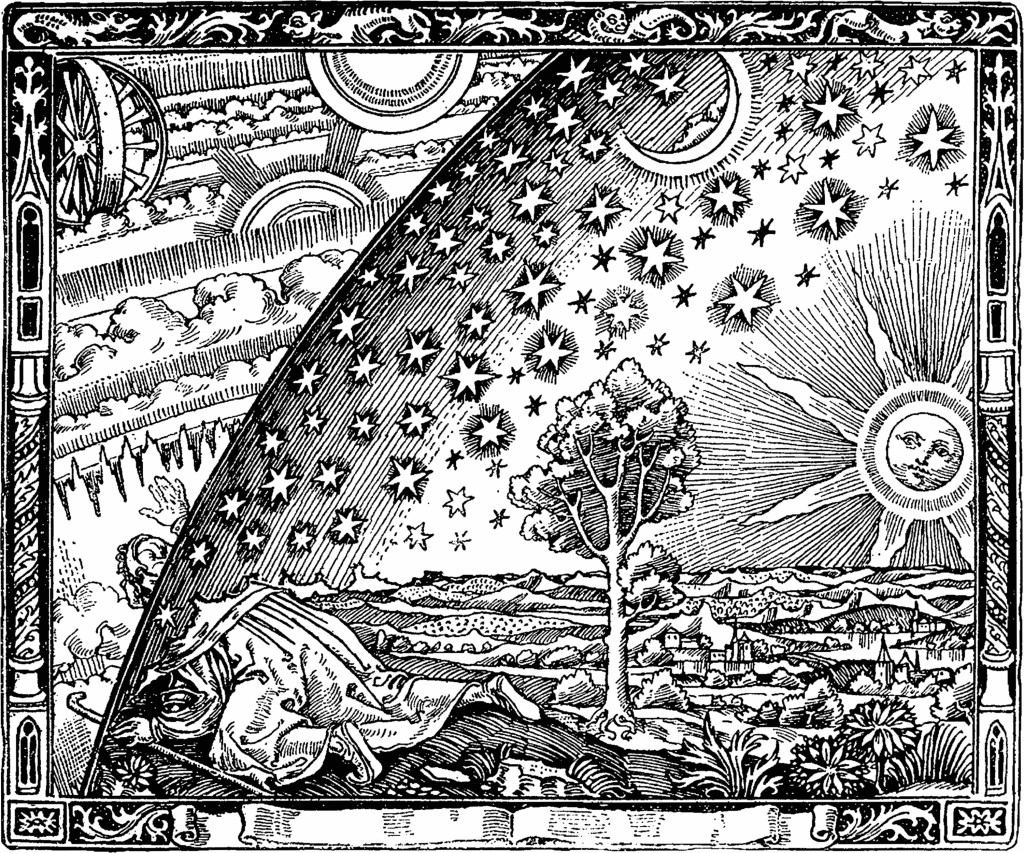 The notorious 'Flammarion engraving' - a wood engraving by an unknown artist that first appeared in Camille Flammarion's L'atmosphère: météorologie populaire (1888)